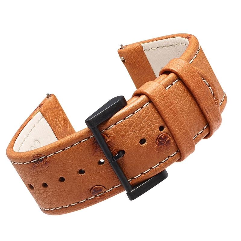 BÒLIDO OSTRICH LEATHER STRAP «CAMEL»
